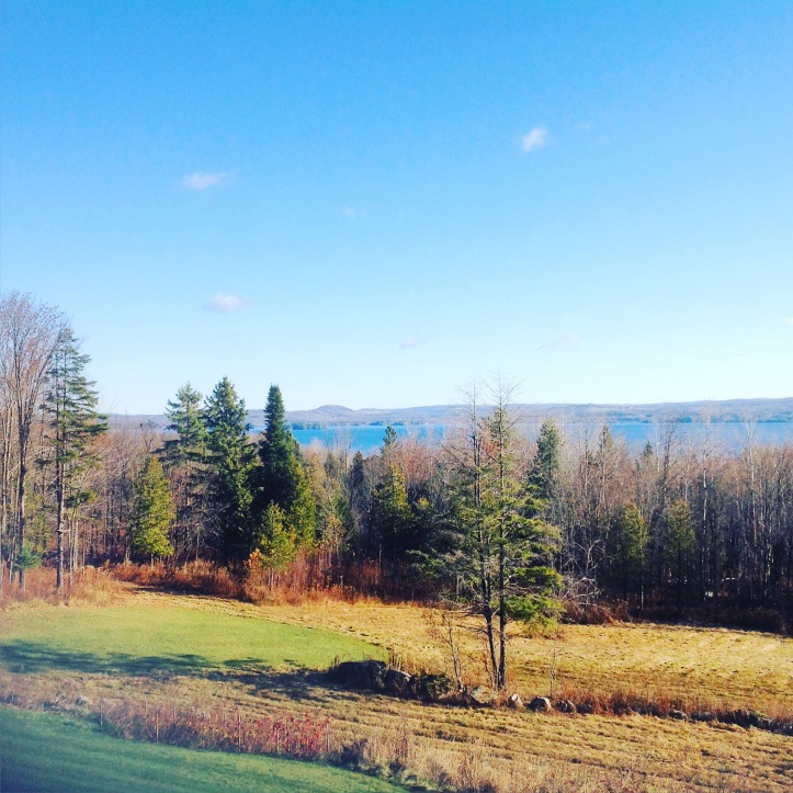 Early November view from the deck of our house sit in Newport, Vermont.