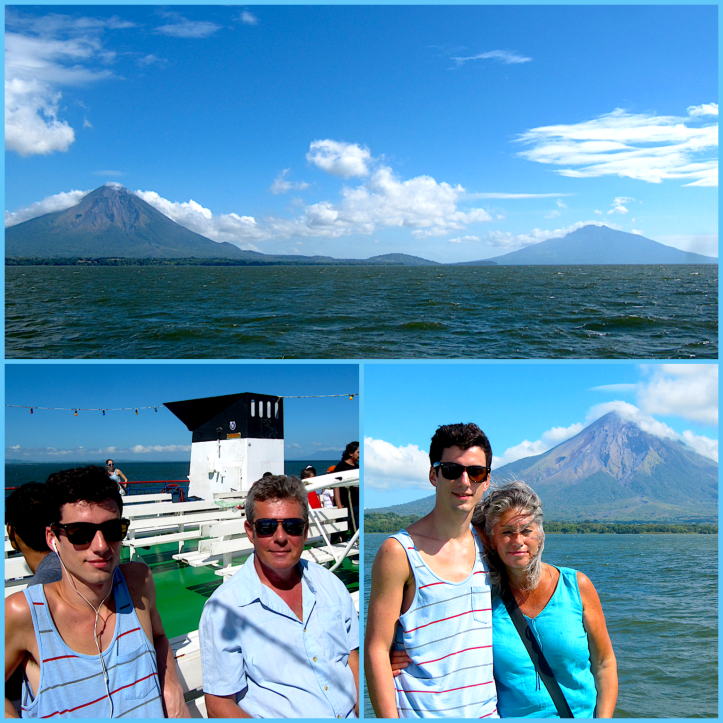 Jeremy, Nick and I on the ferry to Ometepe.